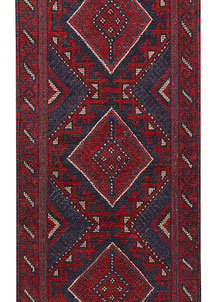 Dark Red Mashwani 2' 1 x 7' 3 - No. 63724