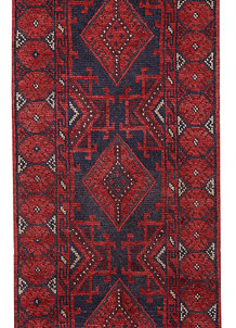 Dark Red Mashwani 2' 1 x 8' 1 - No. 63725