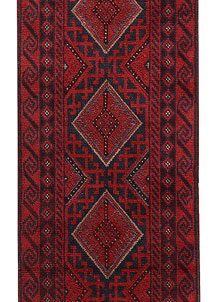 Dark Red Mashwani 1' 11 x 8' 4 - No. 63732