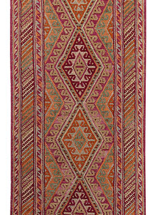 Multi Colored Mashwani 2' 6 x 11' 11 - No. 63741