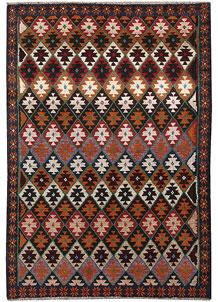 Multi Colored Baluchi 4' 2 x 5' 7 - No. 63994