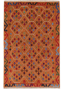 Dark Orange Baluchi 4' x 6' 1 - No. 64067