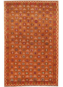 Dark Orange Baluchi 3' 10 x 6' 3 - No. 64110