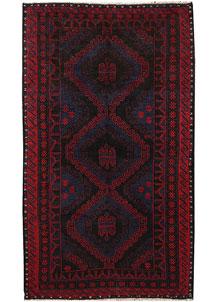 Multi Colored Baluchi 3' 7 x 6' - No. 64295