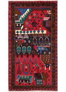 Multi Colored Baluchi 3' 5 x 6' 1 - No. 64324