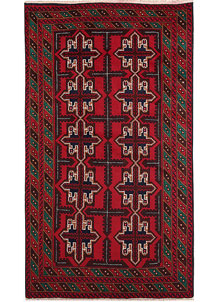 Firebrick Baluchi 3' 6 x 6' 2 - No. 64330