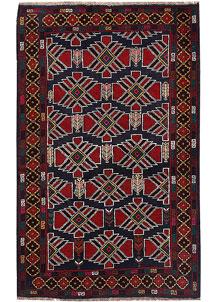 Multi Colored Baluchi 3' 10 x 6' 4 - No. 64336