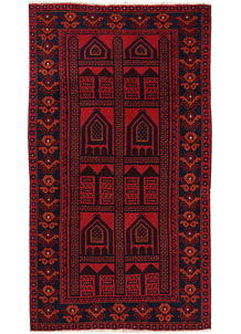 Firebrick Baluchi 3' 5 x 6' - No. 64337