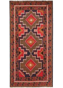 Multi Colored Baluchi 3' 3 x 6' 6 - No. 64340