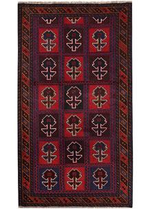 Multi Colored Baluchi 3' 6 x 6' 3 - No. 64341