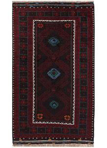 Multi Colored Baluchi 3' 6 x 6' - No. 64343