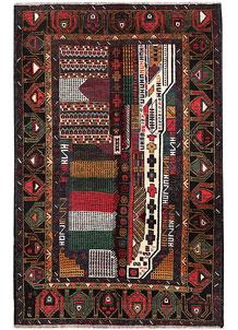 Multi Colored Baluchi 3' 9 x 5' 9 - No. 64346