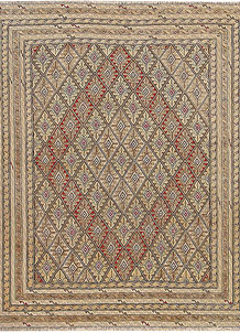 Multi Colored Mashwani 4' 6 x 5' 1 - No. 64380