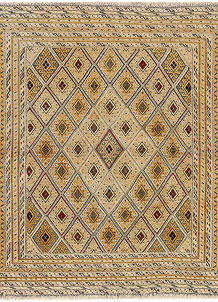 Pale Goldenrod Mashwani 4' 1 x 4' 5 - No. 64382