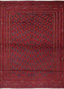 Dark Red Mashwani 6' 9 x 9' - No. 64404