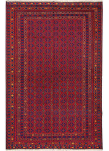 Dark Red Mashwani 6' 8 x 10' - No. 64405