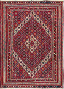 Multi Colored Mashwani 6' 8 x 9' 4 - No. 64409