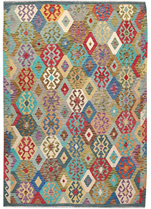 Multi Colored Kilim 6' 11 x 9' 7 - No. 64439