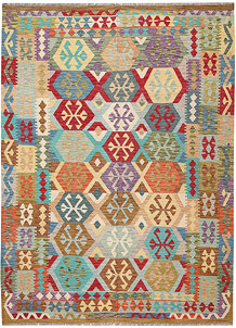 Multi Colored Kilim 6' 10 x 9' 6 - No. 64441