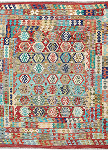 Multi Colored Kilim 6' 9 x 7' 9 - No. 64443