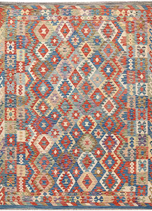 Multi Colored Kilim 6' 7 x 9' - No. 64445