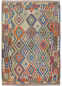 Multi Colored Kilim 6' 9 x 9' 9 - No. 64446