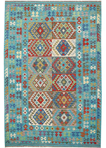 Multi Colored Kilim 6' 9 x 9' 11 - No. 64449