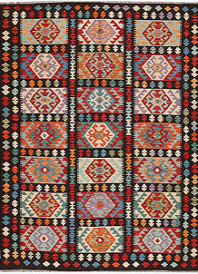 Multi Colored Kilim 6' 8 x 8' 2 - No. 64450