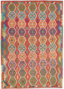 Multi Colored Kilim 7' x 9' 8 - No. 64452