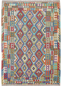 Multi Colored Kilim 6' 11 x 9' 9 - No. 64456