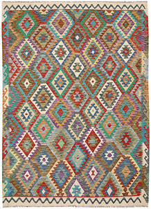 Multi Colored Kilim 6' 10 x 9' 8 - No. 64458