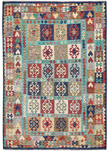 Multi Colored Kilim 6' 9 x 9' 9 - No. 64462