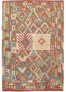 Multi Colored Kilim 6' 8 x 9' 8 - No. 64463