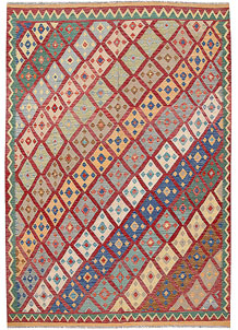 Multi Colored Kilim 6' 7 x 9' 5 - No. 64465