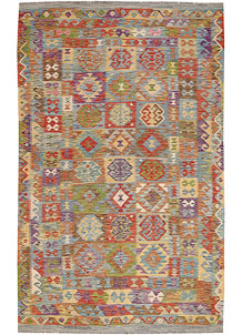 Multi Colored Kilim 6' 5 x 10' 3 - No. 64467