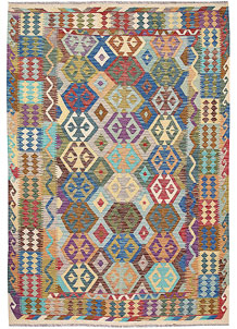 Multi Colored Kilim 6' 10 x 9' 10 - No. 64469