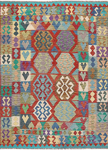 Multi Colored Kilim 6' 8 x 8' 2 - No. 64472