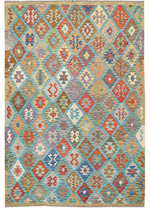 Multi Colored Kilim 6' 8 x 9' 8 - No. 64473