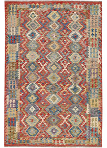 Multi Colored Kilim 6' 1 x 9' 1 - No. 64477