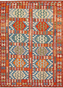 Multi Colored Kilim 6' 9 x 8' 1 - No. 64478
