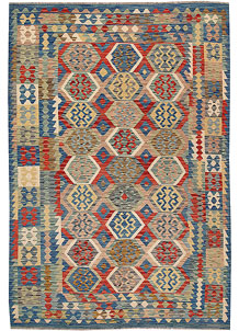 Multi Colored Kilim 6' 3 x 9' - No. 64480