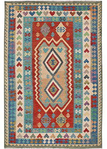 Multi Colored Kilim 6' 9 x 10' - No. 64485