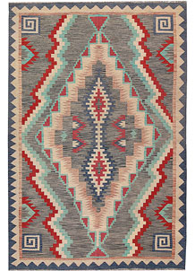Multi Colored Kilim 6' x 8' 11 - No. 64490