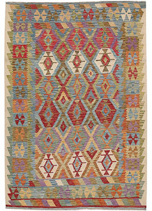 Multi Colored Kilim 6' 8 x 9' 6 - No. 64492