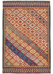 Multi Colored Kilim 6' 7 x 9' 10 - No. 64493