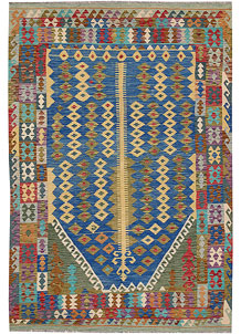 Multi Colored Kilim 6' 7 x 9' 11 - No. 64494
