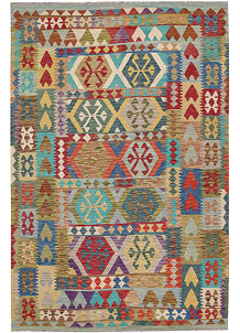 Multi Colored Kilim 6' 5 x 9' 8 - No. 64496