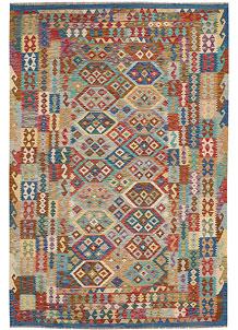 Multi Colored Kilim 6' 8 x 9' 10 - No. 64497