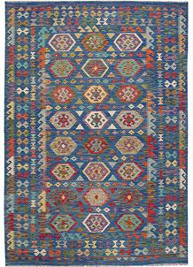 Multi Colored Kilim 6' 6 x 10' - No. 64499