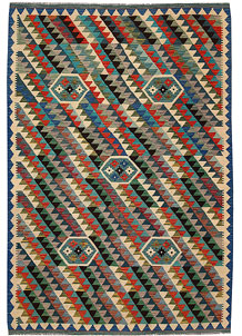 Multi Colored Kilim 6' 7 x 9' 7 - No. 64500